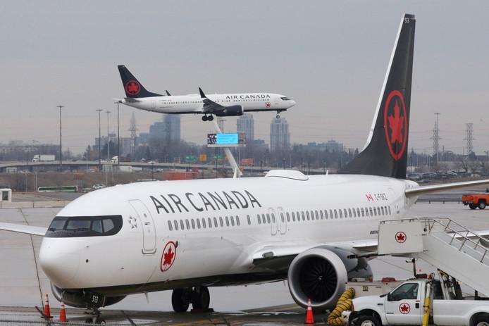 Een Air Canada toestel van het type 737 MAX.