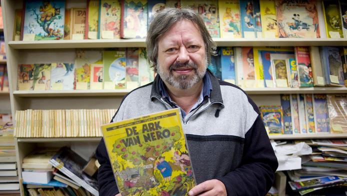 Peter Ottens met zijn favoriete strip: Nero.