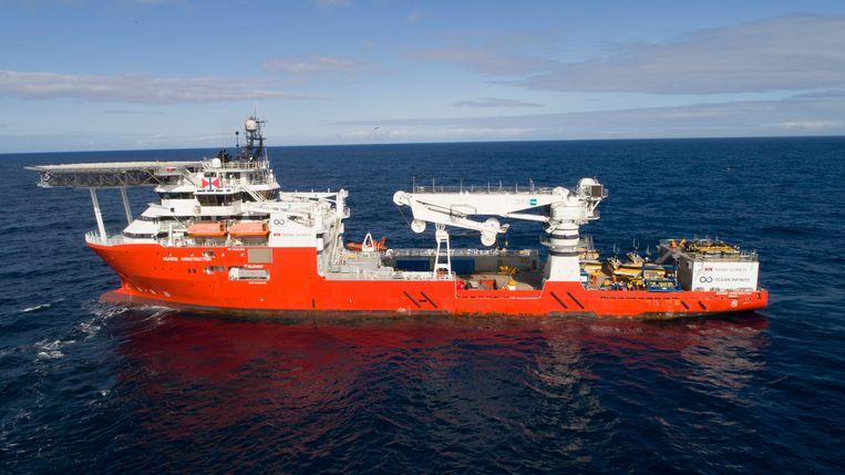 Het onderzoeksschip Seabed Constructor.