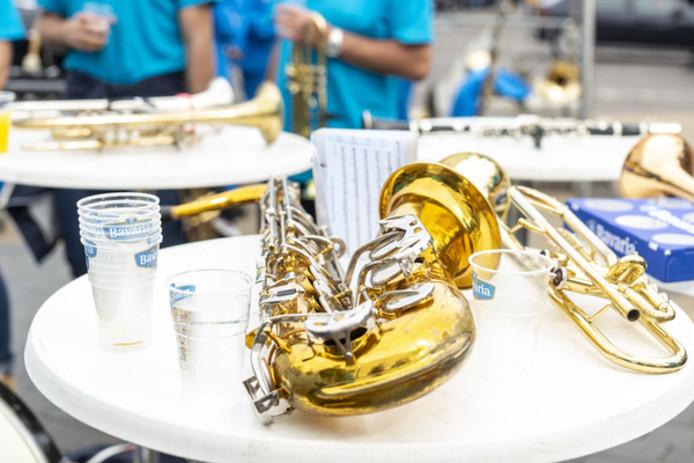 Ook muzikanten houden wel eens pauze.