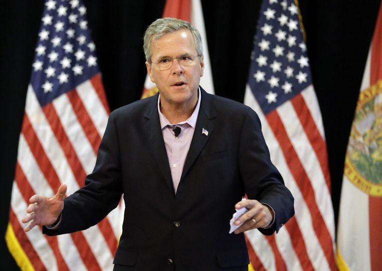 Met een broer en een vader als voormalige presidenten, hoopt Jeb Bush de derde president van de familie te worden. Beeld null
