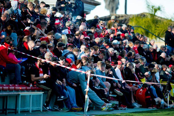 Veel fans van Union Berlin in Spanje.