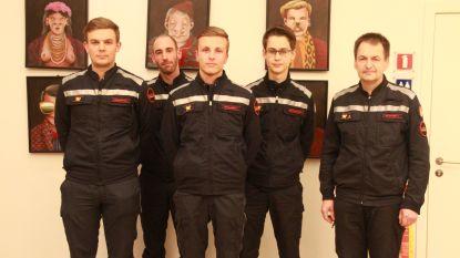 """Vier nieuwe stagiairs in Tielt, """"maar toch hebben we nog brandweermannen te kort"""""""