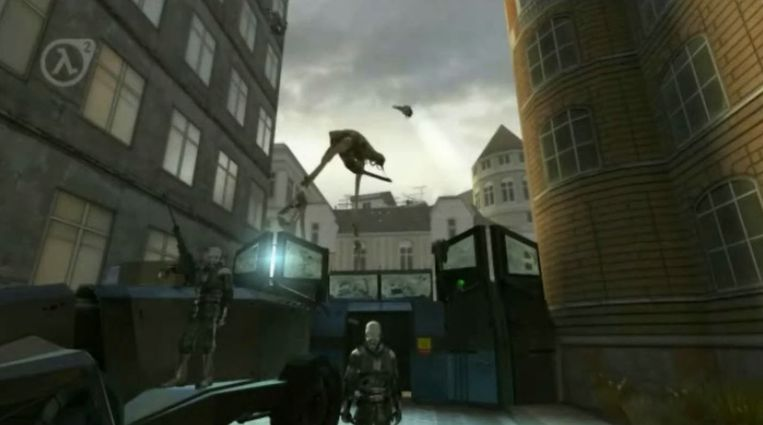 Een schermafbeelding uit de trailer van Half-Life 2.