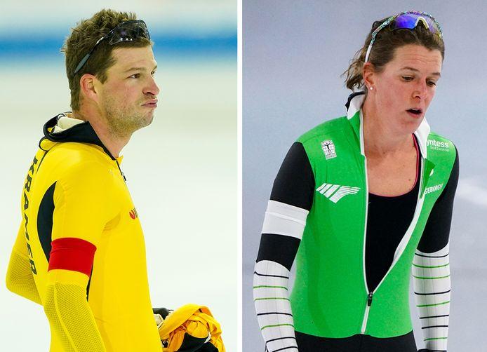 Sven Kramer en Ireen Wüst wisten zich niet te plaatsen voor het EK allround.
