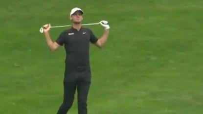 Zó uit Belgische golftopper zijn frustraties, en hij is niet aan zijn proefstuk toe