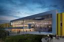 De hoofdingang van Brainport Industries Campus in Eindhoven. Foto SDK Vastgoed BV