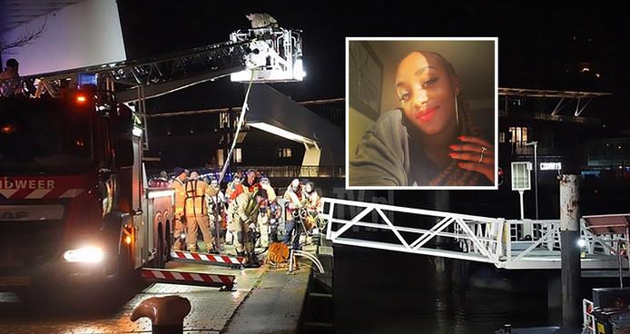 Hulpdiensten haalden Raisa (foto-inzet) dinsdag uit het water.