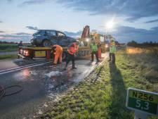 Zware botsing op Deltaweg veroorzaakt doordat Duitse automobilist op verkeerde weghelft belandde