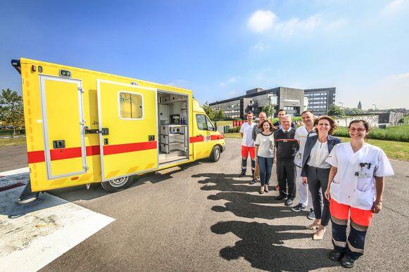 Jan Yperman Ziekenhuis stelt een ambulance ter beschikking voor collocatievervoer.