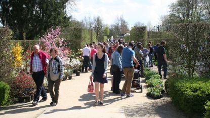 Op blote voeten tijdens lenteplantenmarkt