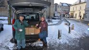 FOTOALBUM: Marktkramers trotseren sneeuw en kou