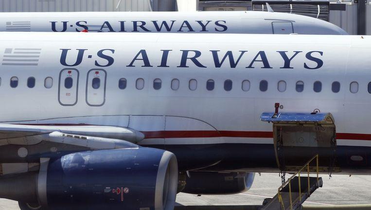 Toestellen van US Airways op het vliegveld van Charlotte in de Verenigde Staten Beeld ap