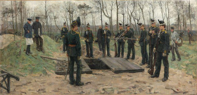 Isaac Israel, De begrafenis van de jager, 1882. Beeld Kunstmuseum Den Haag
