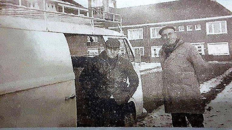 Een beeld uit de jaren 60, met Ghislain en stichter Jérome Favere.