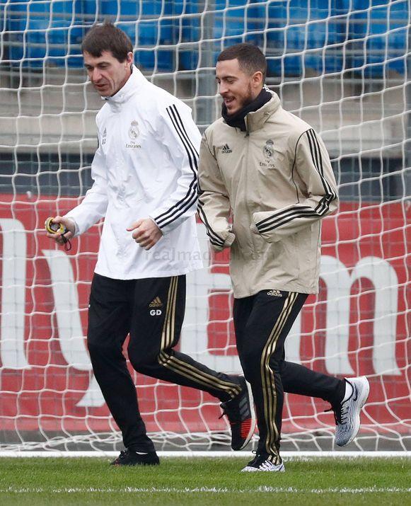 Eden Hazard heeft de looptraining hervat bij Real Madrid