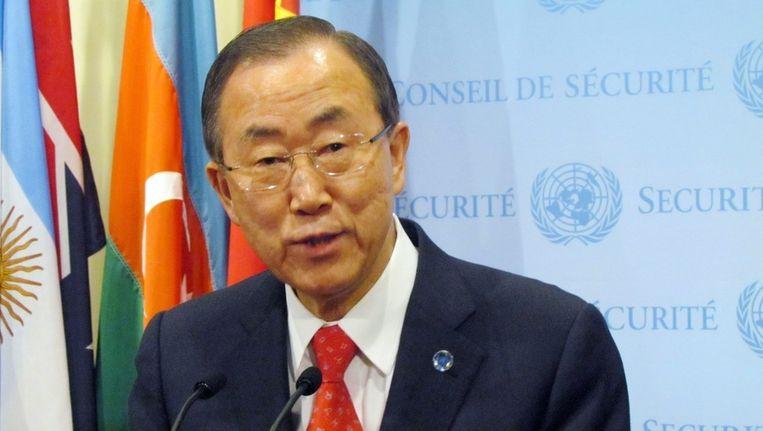 VN-secretaris-generaal Ban Ki-moon. Beeld epa