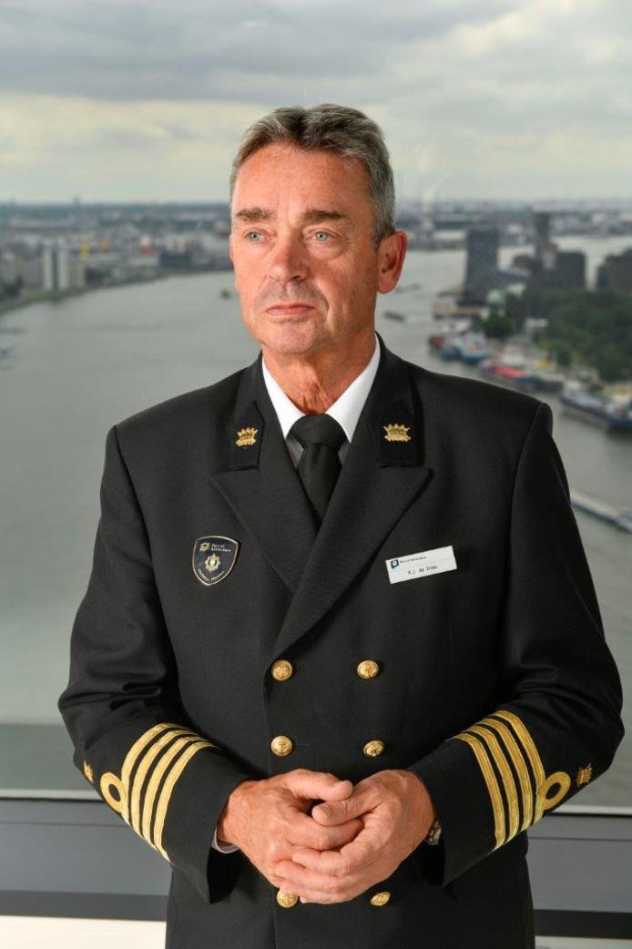 Rijkshavenmeester René de Vries.