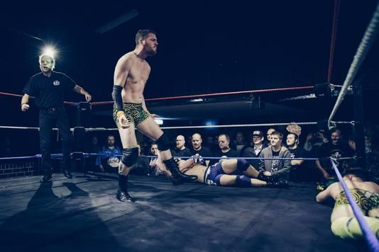 Joël van Wanrooij in actie in de ring