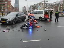 Brandweerman op motor tijdens spoedrit naar ongeval zelf aangereden