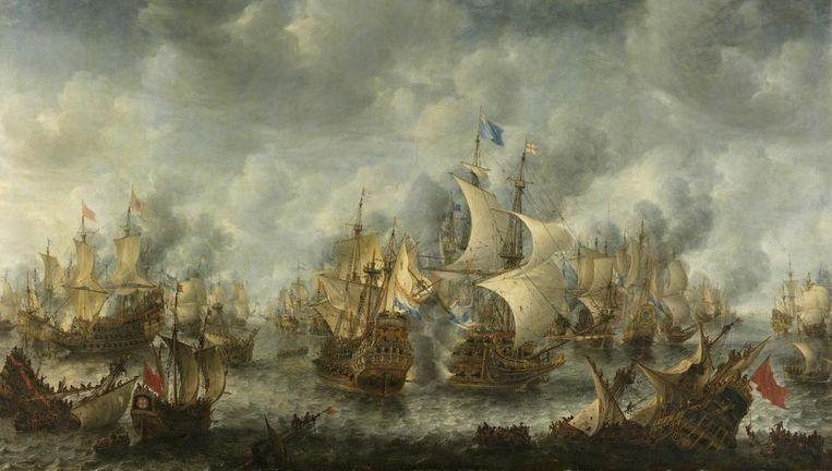 Slag bij Terheide door Jan Abrahamsz. Beerstraten. Beeld null