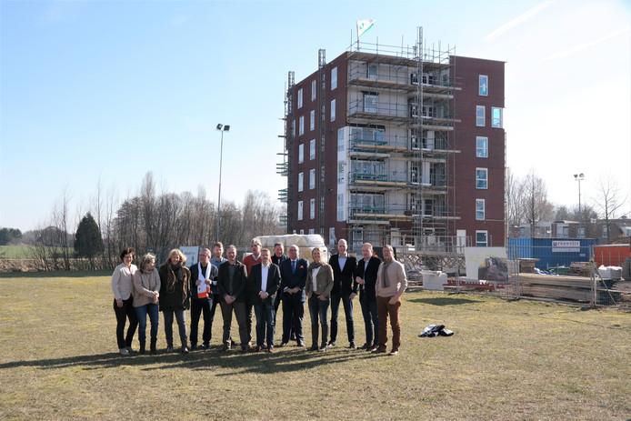 Achterhoekse VVD-ers tijdens het overleg van afgelopen zaterdag met landelijk woordvoerder 'Wonen en bouwen' van de VVD, Daniel Koerhuis.