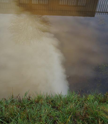 Witte substantie in Waalwijkse sloot komt van een bedrijf uit de omgeving