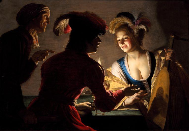 De koppelaarster; Gerard van Honthorst. 1625. Beeld Centraal Museum, Utrecht.