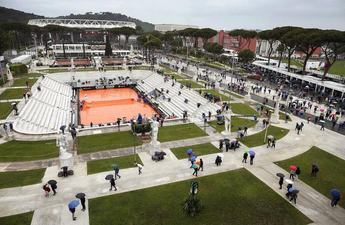 Regenval teistert Italian Open.