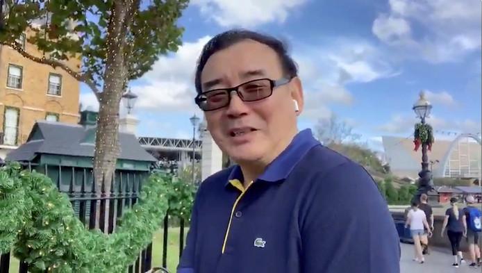 Yang Hengjun op een Twitterbeeld.