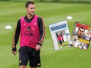 """""""L'homme qui valait 100 millions"""", """"Galactique"""": la presse salue le transfert record de Hazard au Real"""