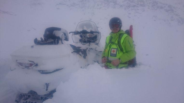 Een pak sneeuw van ruim een meter was er de vorige nacht gevallen. Beeld