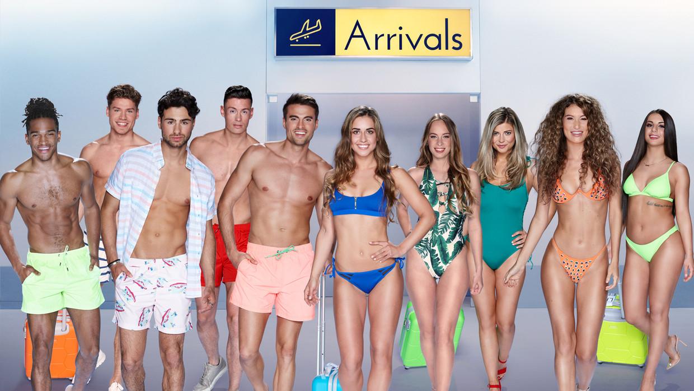 De deelnemers aan het eerste Nederlandse seizoen van Love Island. Beeld RTL Beeldbank