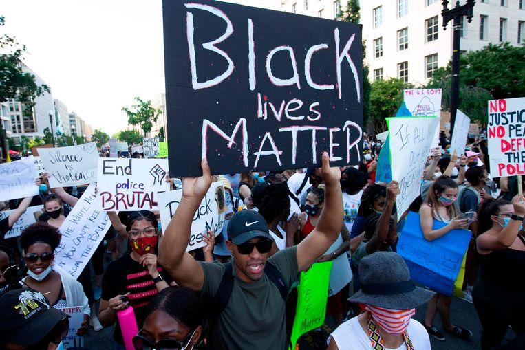 In Washington kwamen tienduizenden mensen bijeen. Beeld AFP