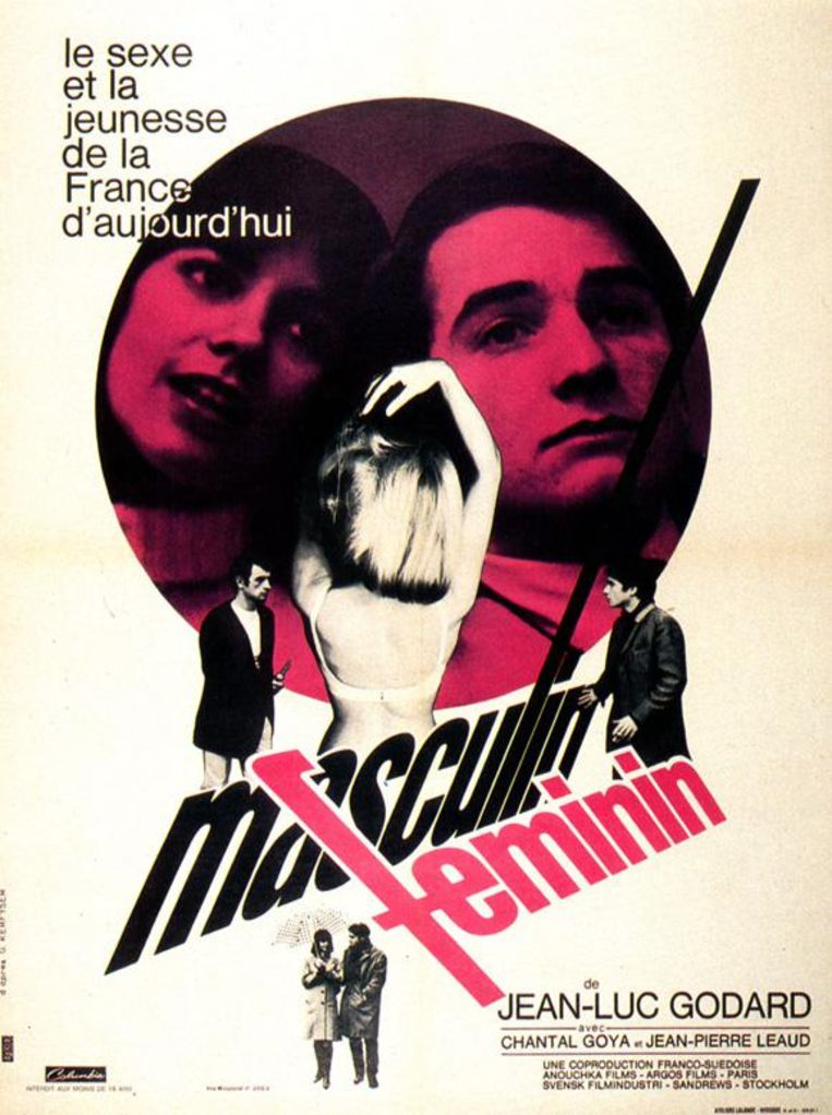 Affiche voor Masculin, féminin (1966) Beeld