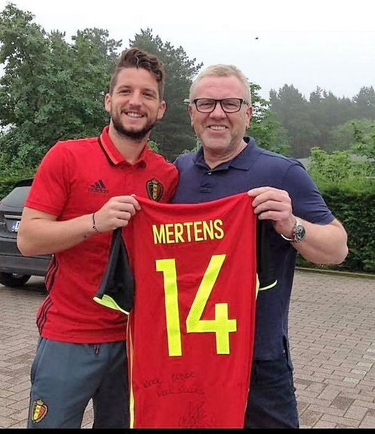 Dries Mertens en Eddy: goede vrienden bij PSV, nu herenigd bij de Rode Duivels.