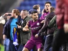 Agüero wordt niet gestraft voor zijn knokpartij met Wigan-fan