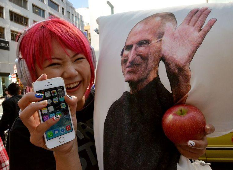 Een Apple-fan. Beeld afp