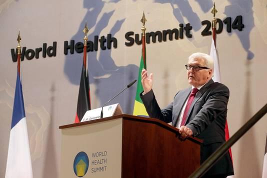 Duitse minister van Buitenlandse Zaken Frank-Walter Steinmeier op de World Health Summit in Berlijn.