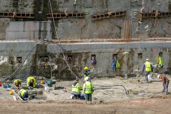 Archeologische opgraving onder parking 58