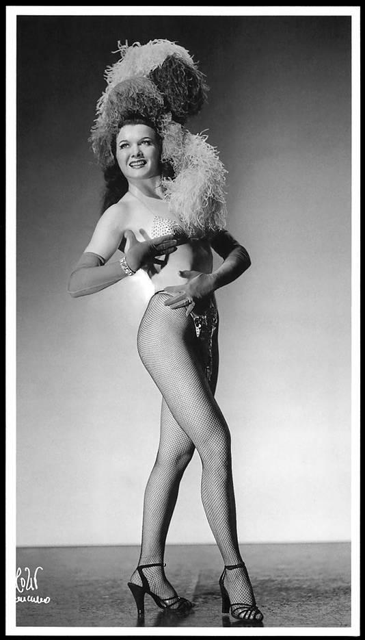 Burlesque danseres. Ter illustratie.