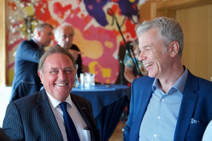 Hans Vahstal (links) ligt al jaren in de clinch met het stadsbestuur van Amersfoort, waarin VVD-bestuurder Hans Buijtelaar (rechts) al jaren een vaste waarde is.