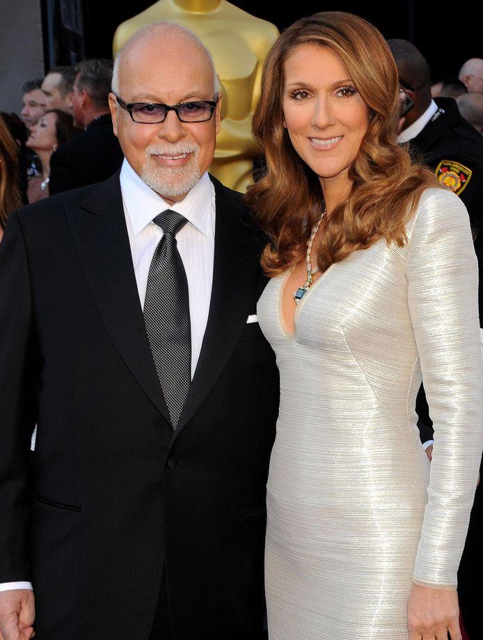 Céline en haar inmiddels overleden echtgenoot René.