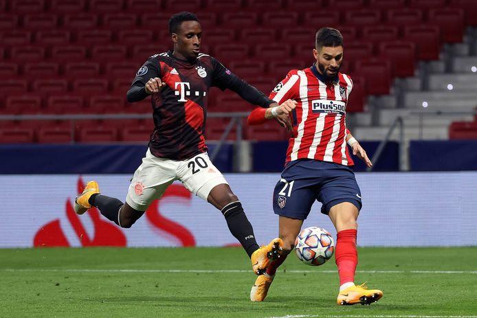 Carrasco eerder deze week in actie tegen Bayern.