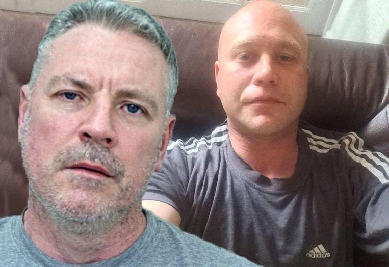 Links Matthew Moseley, rechts zijn slachtoffer Lee Holt.