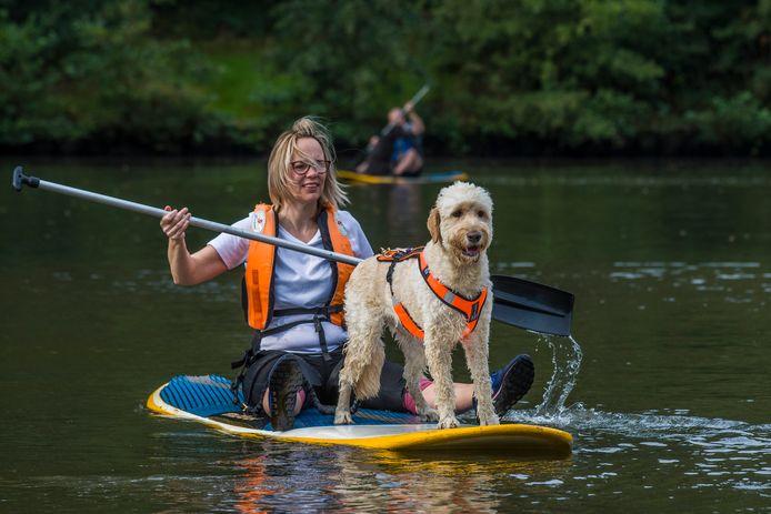 Suppen voor hond en baasje op het Hulsbeekwater.
