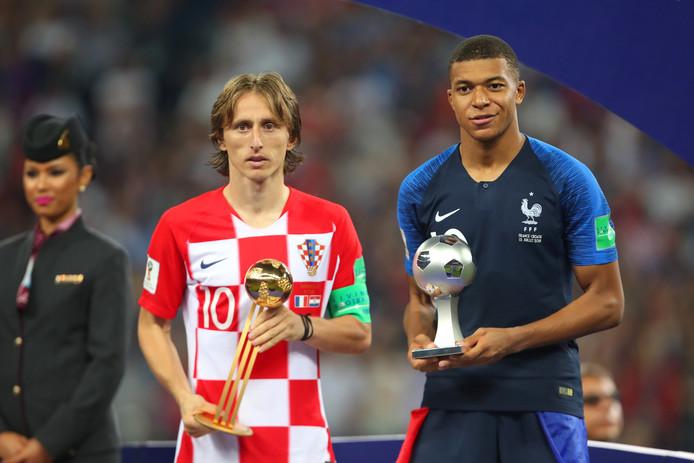 Luka Modric werd op het WK verkozen tot beste speler, Kylian Mbappé tot grootste talent.