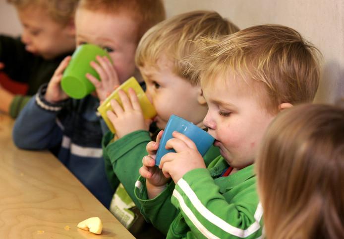 Kinderen op een peuteropvang in Nederland.