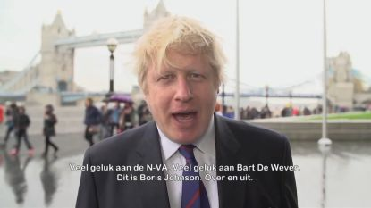 Boris Johnson sprak spotje in voor de N-VA