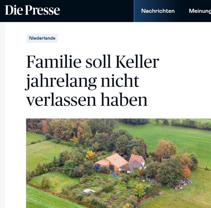 De Oostenrijkse krant Die Presse schrijft over de familie die de kelder jarenlang niet verlaten zou hebben.